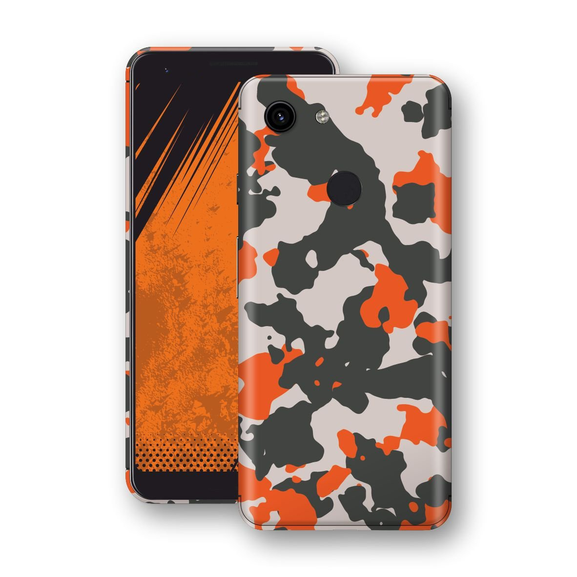 Google Pixel 3a XL Camouflage Orange Skin, Decal, Wrap, Protector, Cover by EasySkinz | EasySkinz.com