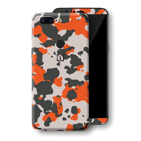 OnePlus 5T Camouflage Orange Skin, Decal, Wrap, Protector, Cover by EasySkinz | EasySkinz.com
