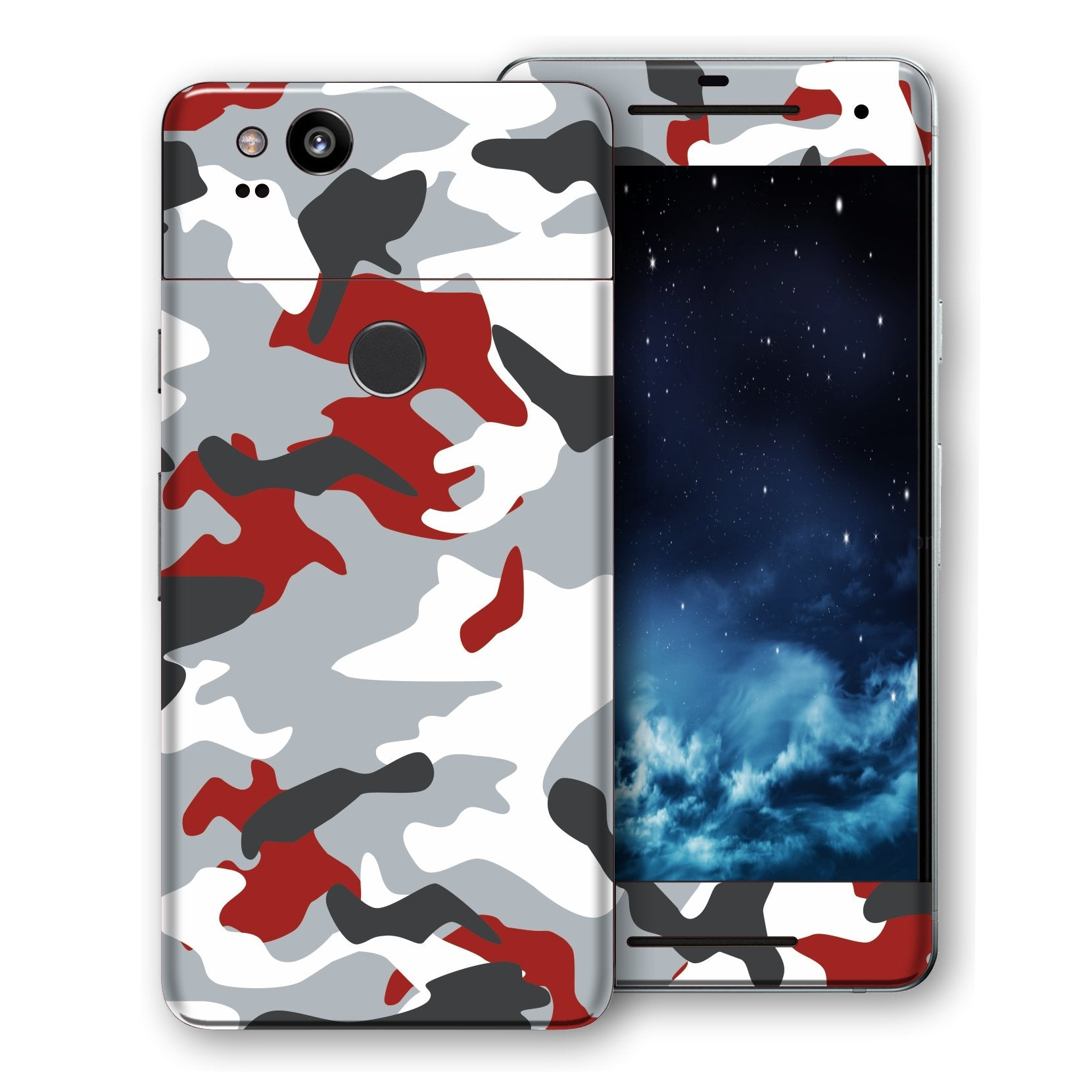 Google Pixel 2 Print Custom Signature Camouflage Red Skin Wrap Decal by EasySkinz