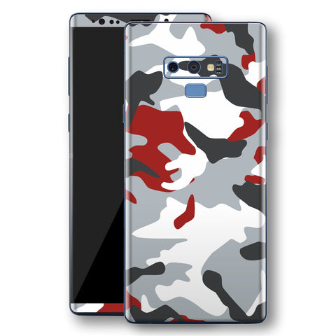 Samsung Galaxy NOTE 9 Print Custom Signature Camouflage Red Skin Wrap Decal by EasySkinz