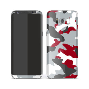 Samsung Galaxy S8 Print Custom Signature Camouflage Red Skin Wrap Decal by EasySkinz