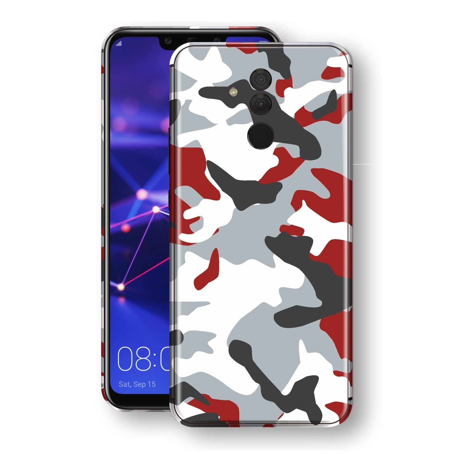 Huawei MATE 20 LITE Print Custom Signature Camouflage Red Skin Wrap Decal by EasySkinz