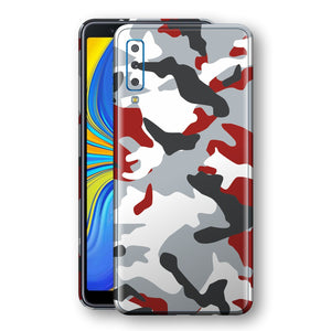 Samsung Galaxy A7 (2018) Print Custom Signature Camouflage Red Skin Wrap Decal by EasySkinz