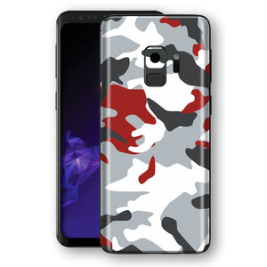 Samsung Galaxy S9 Signature Red CAMOUFLAGE  Skin, Decal, Wrap, Protector, Cover by EasySkinz | EasySkinz.com