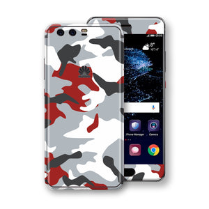 Huawei P10+ PLUS  Print Custom Signature Camouflage Red Skin Wrap Decal by EasySkinz
