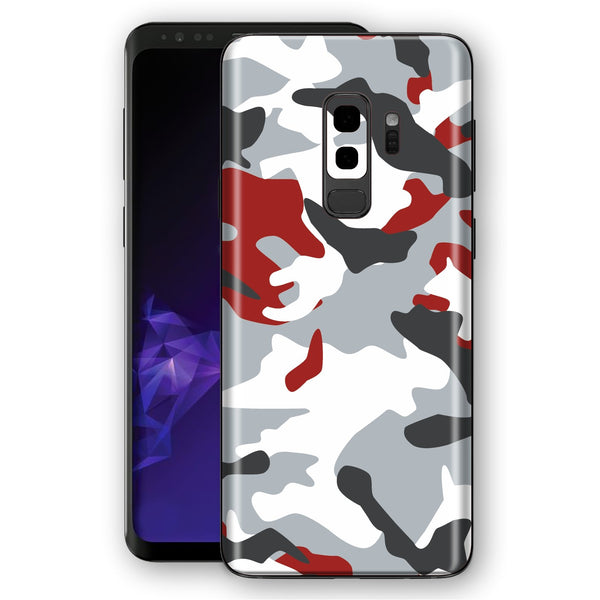 Samsung Galaxy S9+ PLUS Signature Red Camouflage Skin, Decal, Wrap, Protector, Cover by EasySkinz | EasySkinz.com