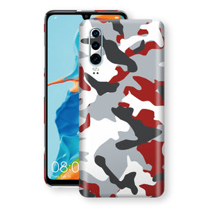 Huawei P30 Print Custom Signature Camouflage Red Skin Wrap Decal by EasySkinz