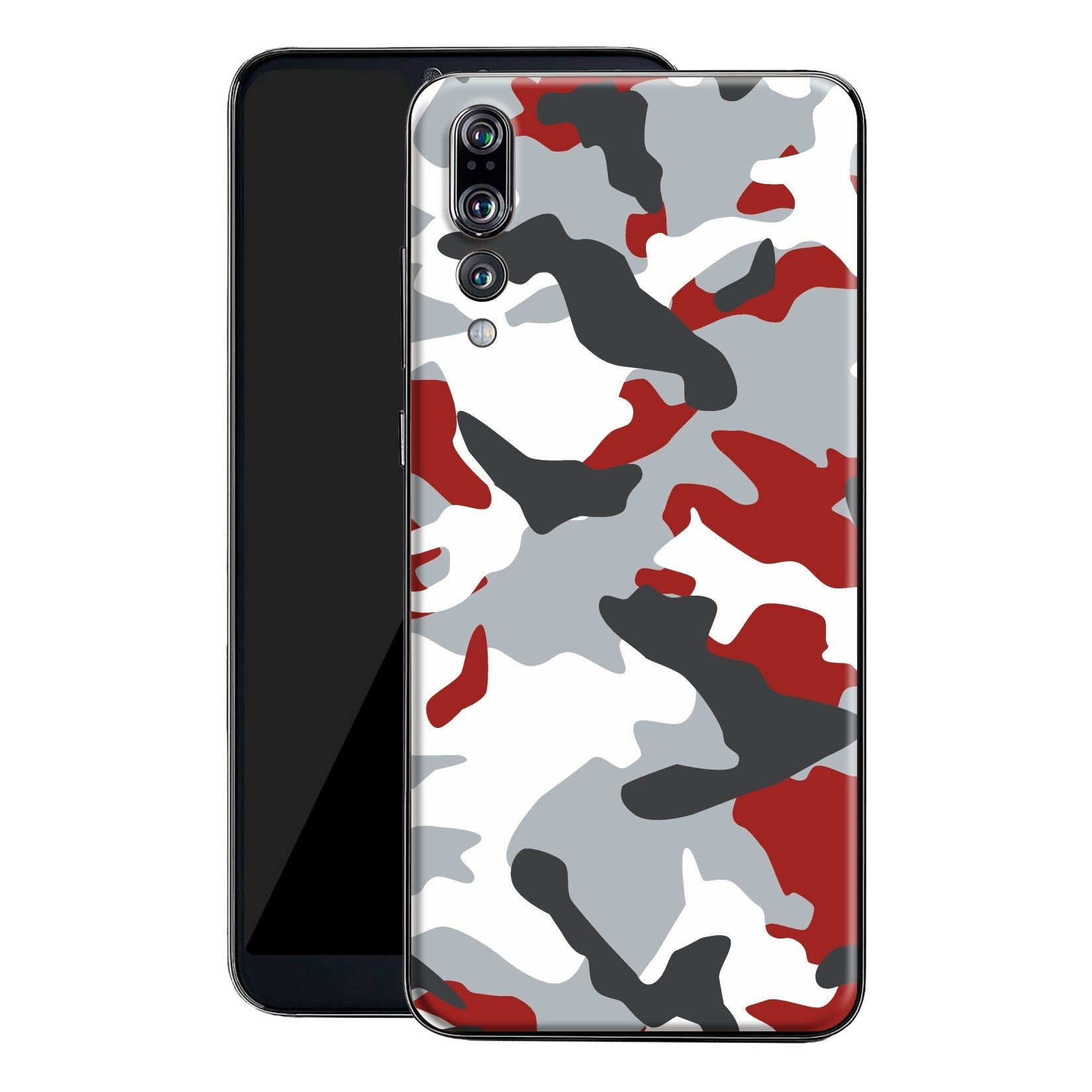 Huawei P20 PRO Print Custom Signature Camouflage Red Skin Wrap Decal by EasySkinz