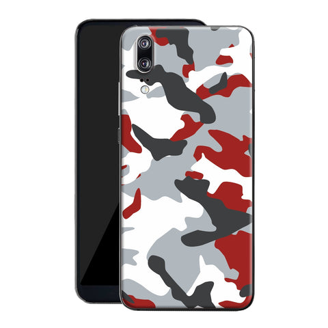 Huawei P20 Print Custom Signature Camouflage Red Skin Wrap Decal by EasySkinz