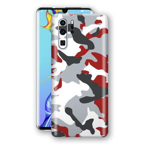 Huawei P30 PRO Print Custom Signature Camouflage Red Skin Wrap Decal by EasySkinz