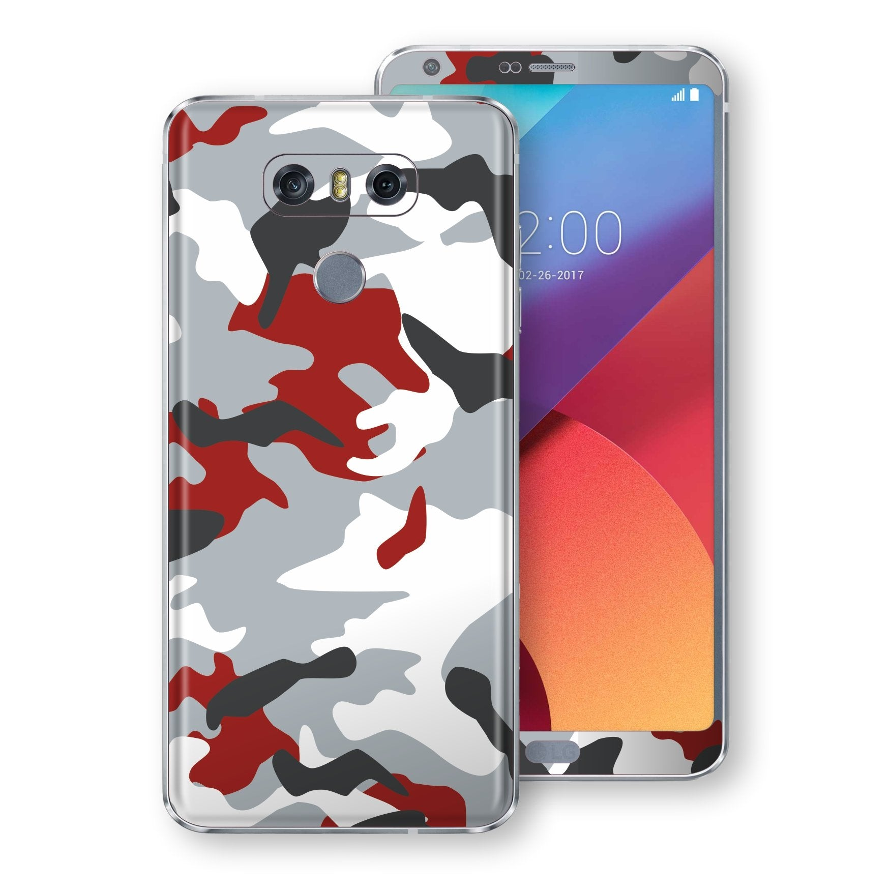LG G6 Print Custom Signature Camouflage Red Skin Wrap Decal by EasySkinz