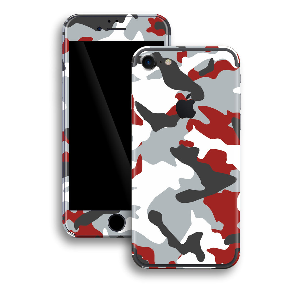 iPhone 7 Print Custom Signature RED Camouflage Skin Wrap Decal by EasySkinz