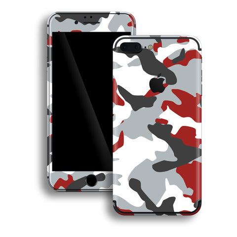 iPhone 7 PLUS Print Custom Signature RED Camouflage Skin Wrap Decal by EasySkinz