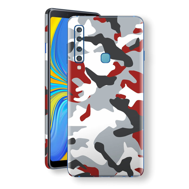 Samsung Galaxy A9 (2018) Print Custom Signature Camouflage Red Skin Wrap Decal by EasySkinz