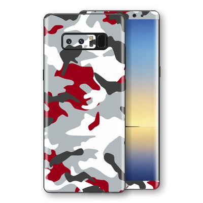 Samsung Galaxy NOTE 8 Print Custom Signature Camouflage Red Skin Wrap Decal by EasySkinz