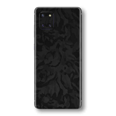 Samsung Galaxy NOTE 10 LITE Black Camo Camouflage 3D Textured Skin Wrap Sticker Decal Cover Protector by EasySkinz