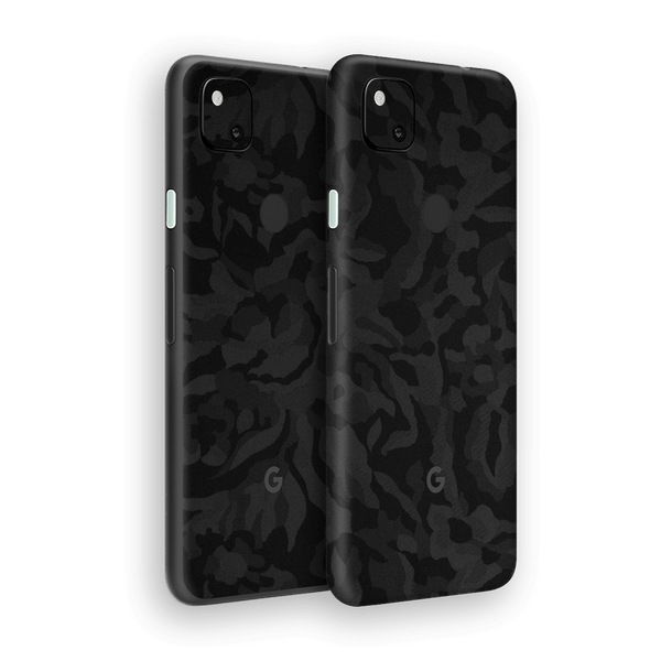 Google Pixel 4a Black Camo Camouflage 3D Textured Skin Wrap Sticker Decal Cover Protector by EasySkinz