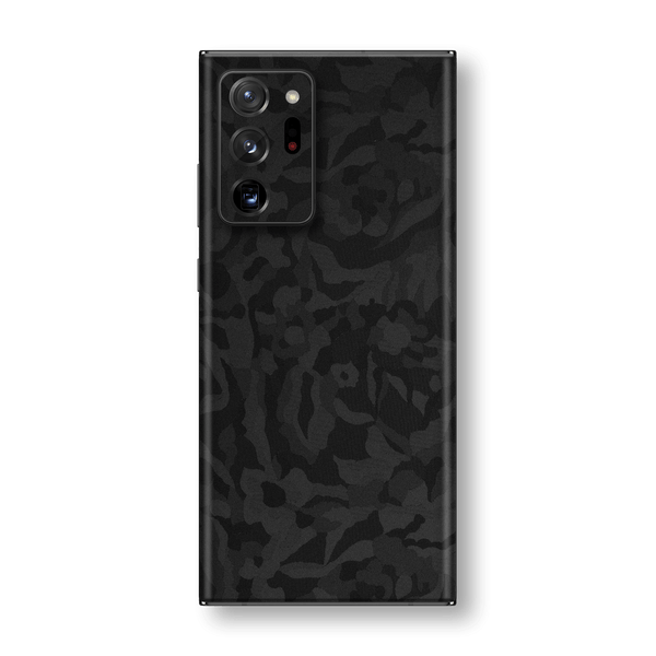 Samsung Galaxy NOTE 20 ULTRA Black Camo Camouflage 3D Textured Skin Wrap Sticker Decal Cover Protector by EasySkinz