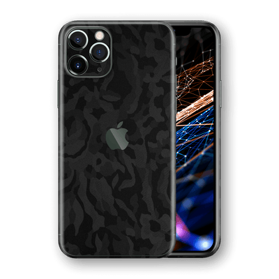 iPhone 11 PRO Luxuria Black 3D Textured Camo Camouflage Skin Wrap Decal Protector | EasySkinz  Edit alt text