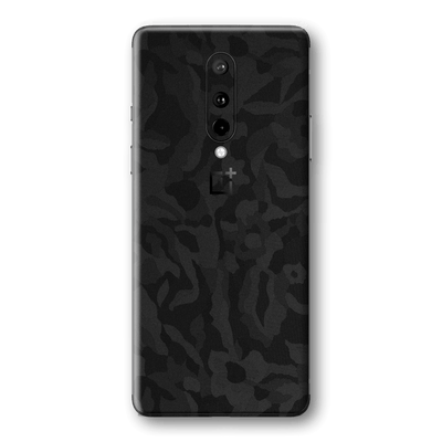 OnePlus 8 Black Camo Camouflage 3D Textured Skin Wrap Sticker Decal Cover Protector by EasySkinz