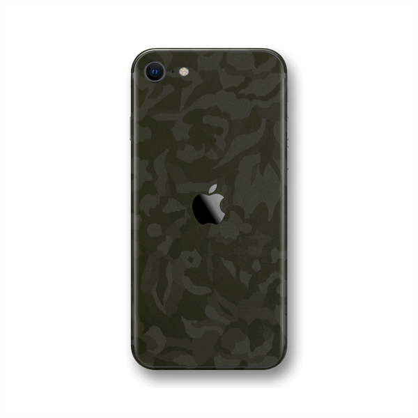 iPhone SE (2020) Green Camo Camouflage 3D Textured Skin Wrap Sticker Decal Cover Protector by EasySkinz