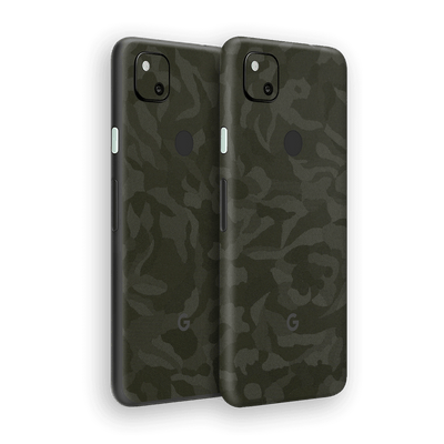 Google Pixel 4a Green Camo Camouflage 3D Textured Skin Wrap Sticker Decal Cover Protector by EasySkinz
