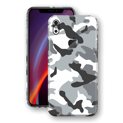 iPhone X Print Custom Signature GREY Camouflage Skin Wrap Decal by EasySkinz