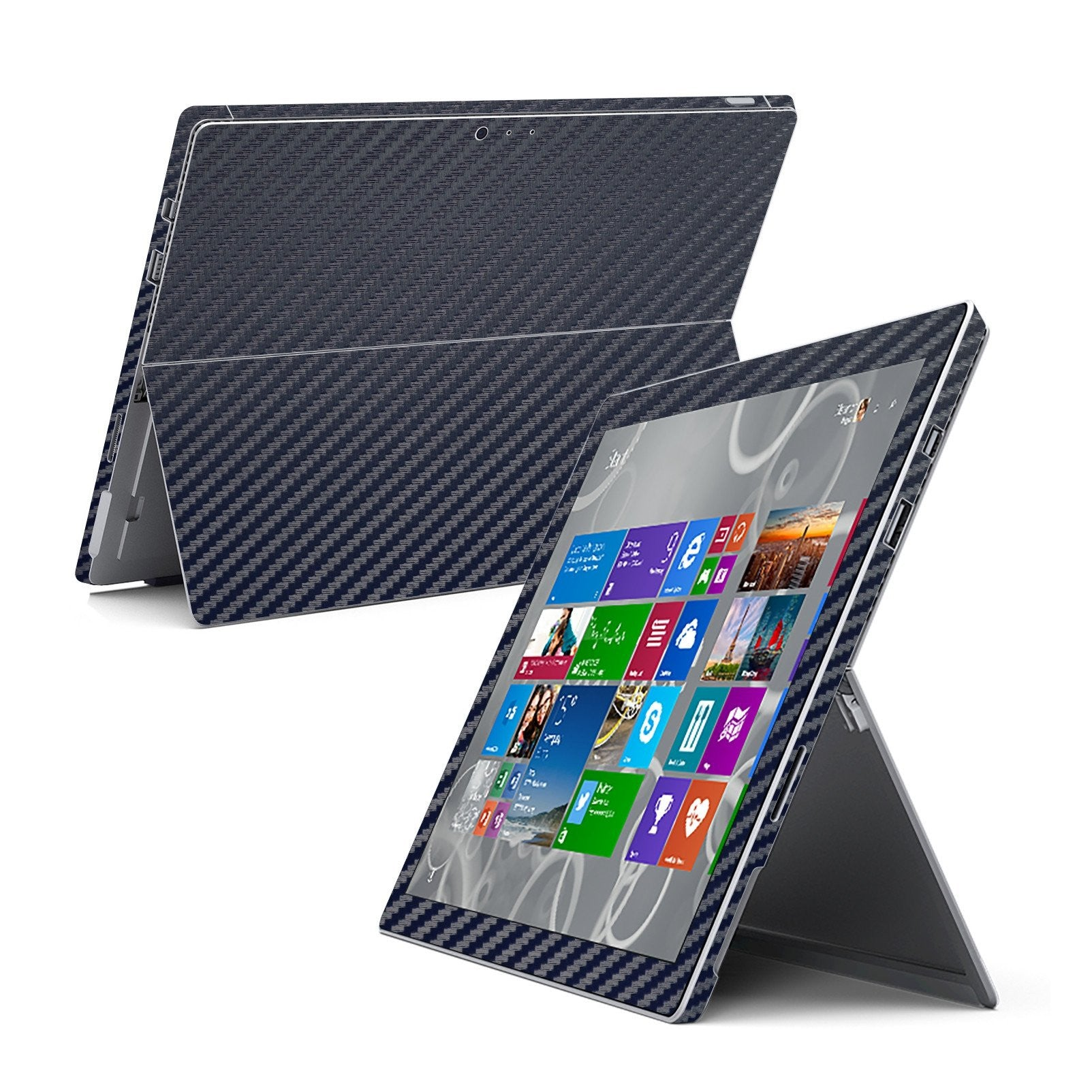 Microsoft Surface Pro 3 Navy Blue CARBON Fibre Skin Wrap Sticker Cover Decal Protector by EasySkinz