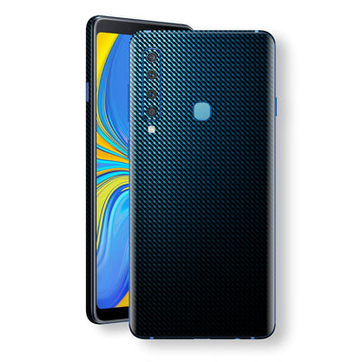 Samsung Galaxy A9 (2018) Print Custom Signature Blue Grid Carbon Abstract Skin Wrap Decal by EasySkinz