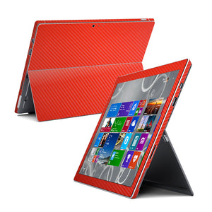 Microsoft Surface Pro 3 Red CARBON Fibre Skin Wrap Sticker Cover Decal Protector by EasySkinz