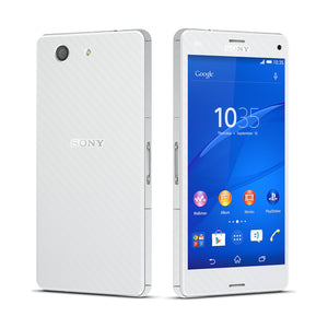 Sony Xperia Z3 COMPACT WHITE Carbon Fibre Fiber Skin Wrap Sticker Cover Decal Protector. By EasySkinz.