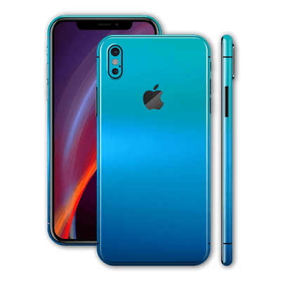 iPhone X Chameleon Caribbean Colour-changing Skin, Wrap, Decal, Protector, Cover by EasySkinz | EasySkinz.com