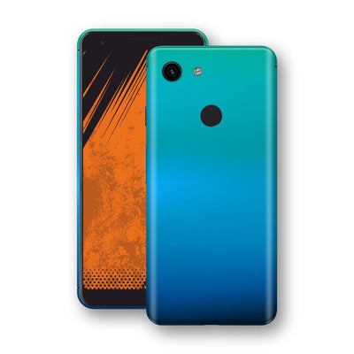 Google Pixel 3a XL Chameleon Caribbean Skin Wrap Decal Cover by EasySkinz