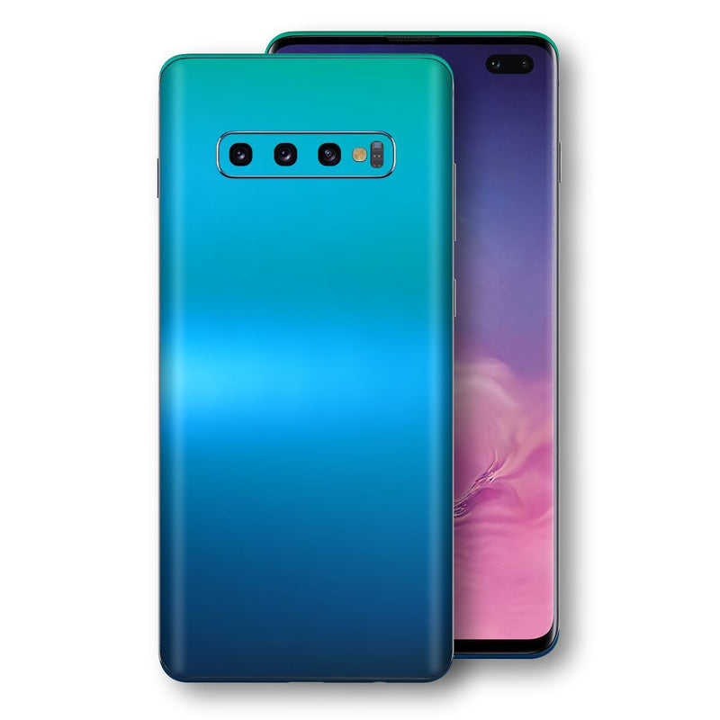 Samsung Galaxy S10+ PLUS Chameleon Caribbean Skin Wrap Decal Cover by EasySkinz