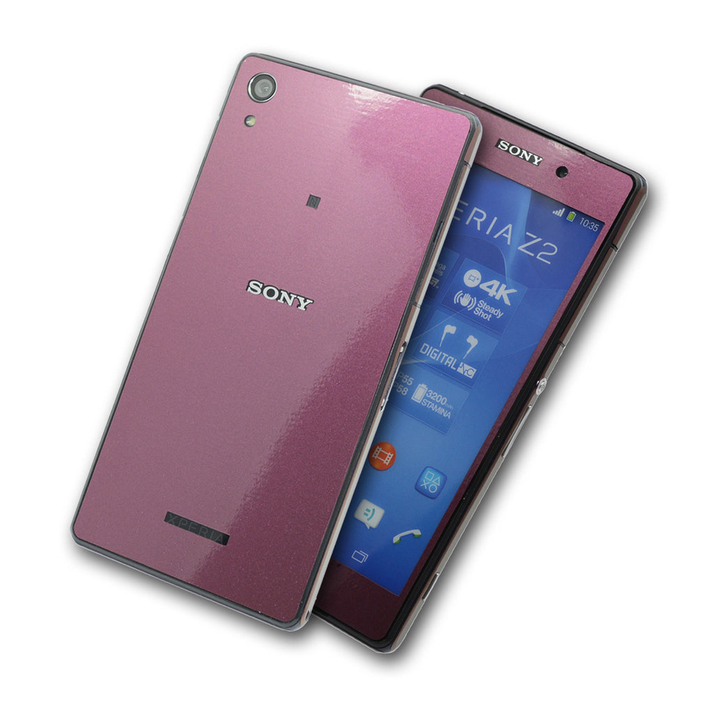 Sony Xperia Z2 purple red gold chameleon skin