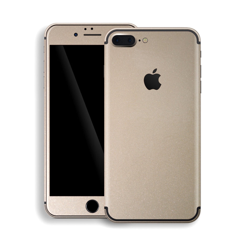 iPhone 7 Plus Champagne Gold Glossy Metallic Skin, Decal, Wrap, Protector, Cover by EasySkinz | EasySkinz.com