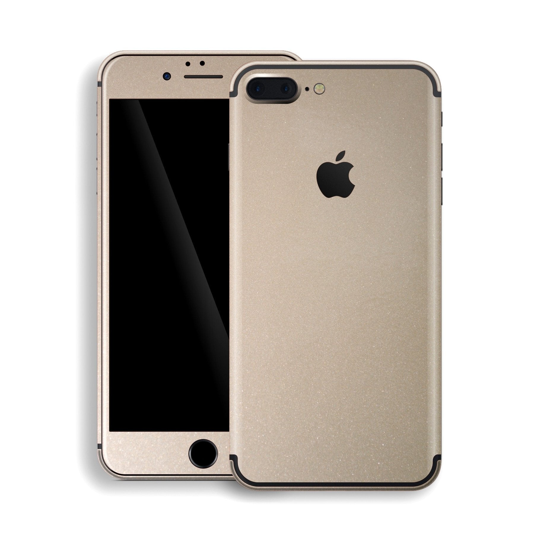 iphone 7 plus gold at&t iphone plus champagne gold glossy metallic skin decal wrap protector cover plus gold metallic decal easyskinz