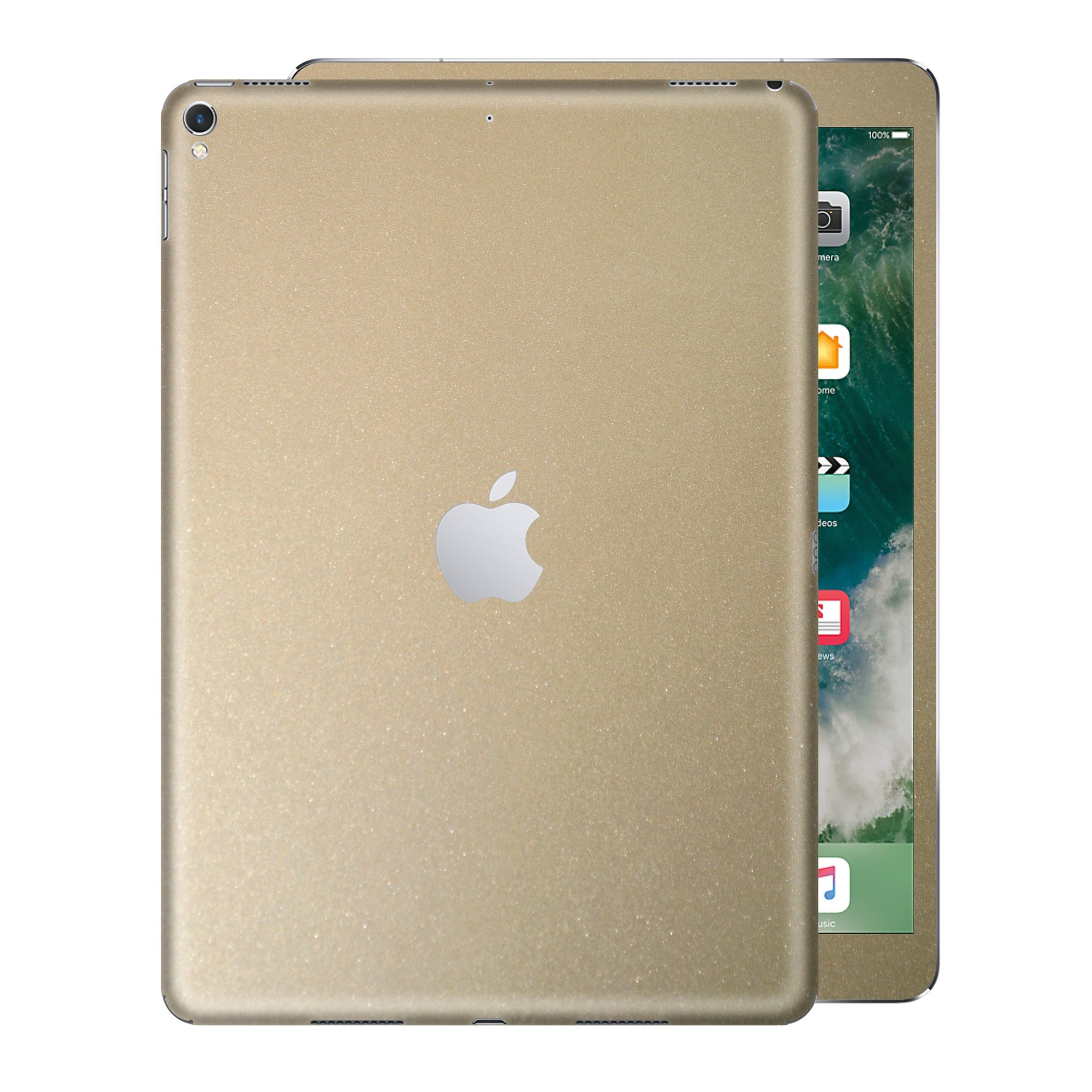 iPad PRO 12.9 inch 2017 Glossy Champagne Gold Metallic Skin Wrap Sticker Decal Cover Protector by EasySkinz