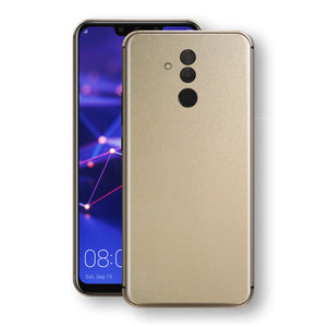 Huawei MATE 20 LITE Champagne Gold Glossy Metallic Skin, Decal, Wrap, Protector, Cover by EasySkinz | EasySkinz.com