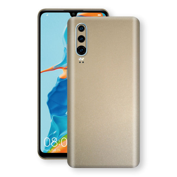Huawei P30 Champagne Gold Glossy Metallic Skin, Decal, Wrap, Protector, Cover by EasySkinz | EasySkinz.com