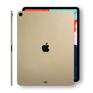 iPad PRO 11-inch 2018 Glossy Champagne Gold Metallic Skin Wrap Sticker Decal Cover Protector by EasySkinz