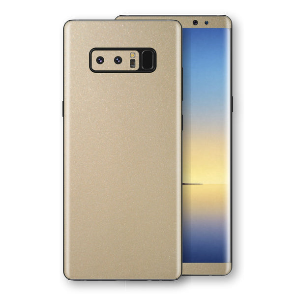 Samsung Galaxy NOTE 8 Champagne Gold Glossy Metallic Skin, Decal, Wrap, Protector, Cover by EasySkinz | EasySkinz.com
