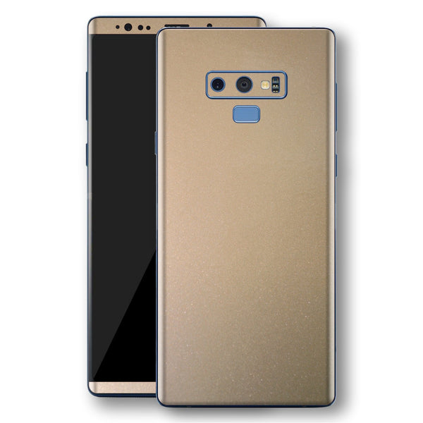 Samsung Galaxy NOTE 9 Champagne Gold Glossy Metallic Skin, Decal, Wrap, Protector, Cover by EasySkinz | EasySkinz.com