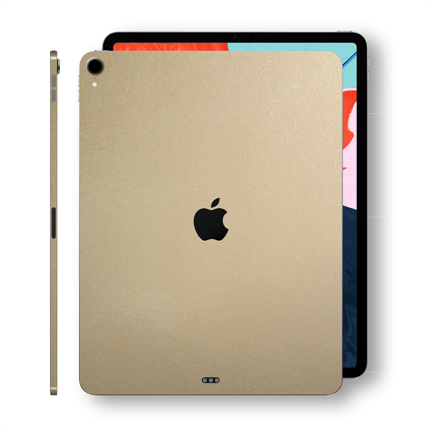 iPad PRO 12.9 inch 3rd Generation 2018 Glossy Champagne Gold Metallic Skin Wrap Sticker Decal Cover Protector by EasySkinz