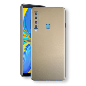 Samsung Galaxy A9 (2018) Champagne Gold Glossy Metallic Skin, Decal, Wrap, Protector, Cover by EasySkinz | EasySkinz.com