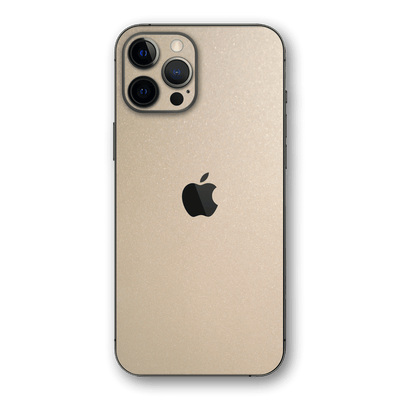 iPhone 12 PRO Glossy Champagne Gold Metallic Skin, Wrap, Decal, Protector, Cover by EasySkinz | EasySkinz.com