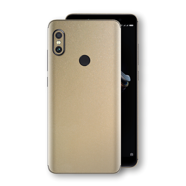 XIAOMI Redmi NOTE 5 Champagne Gold Glossy Metallic Skin, Decal, Wrap, Protector, Cover by EasySkinz | EasySkinz.com