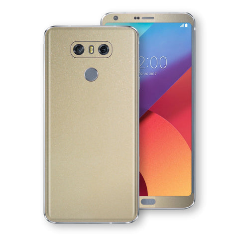 LG G6 Champagne Gold Glossy Metallic Skin, Decal, Wrap, Protector, Cover by EasySkinz | EasySkinz.com