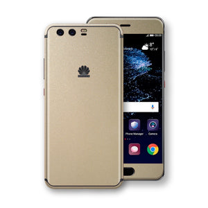 Huawei P10+ PLUS  Champagne Gold Glossy Metallic Skin, Decal, Wrap, Protector, Cover by EasySkinz | EasySkinz.com