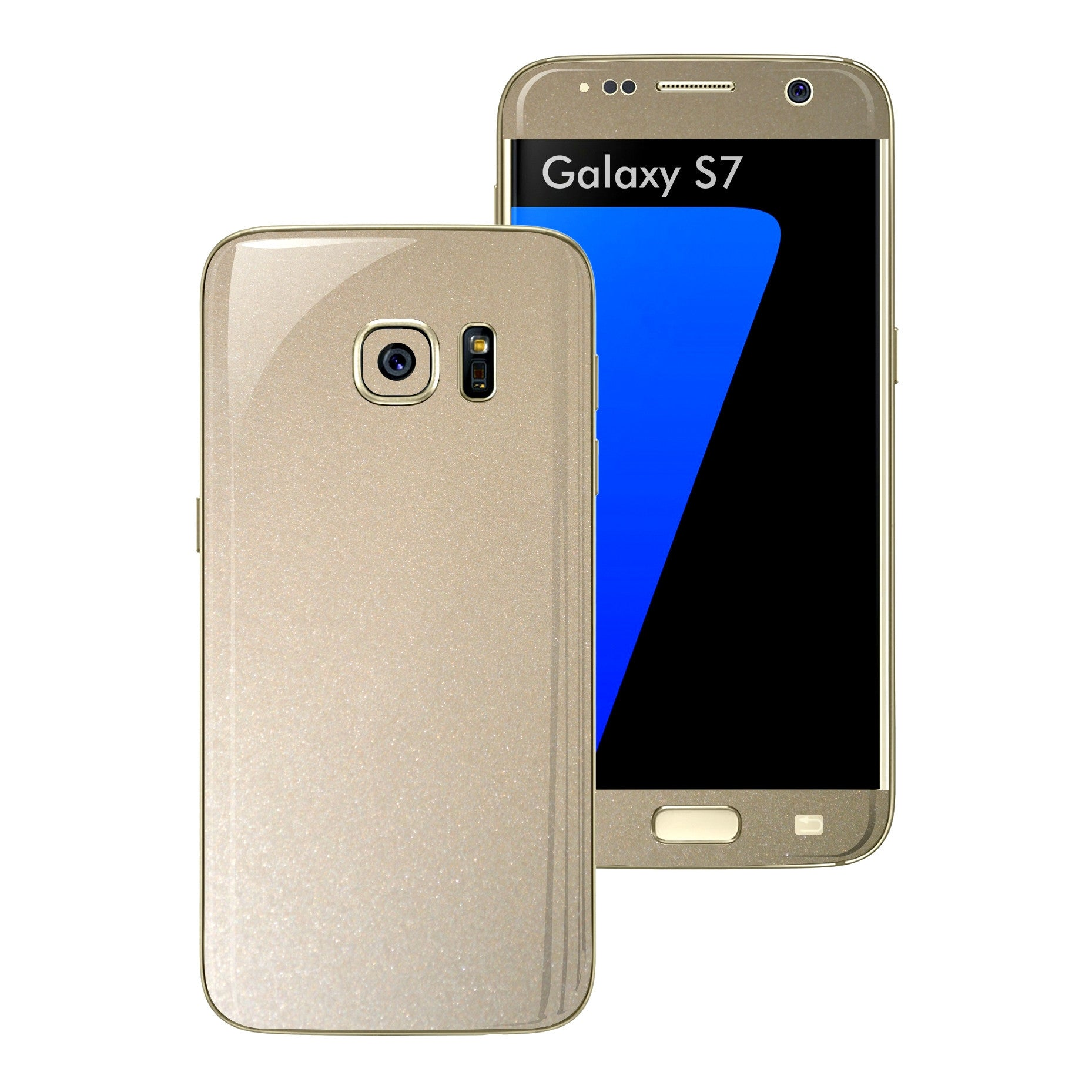 Samsung Galaxy S7 Glossy Champagne GOLD Metallic Skin Wrap Decal Sticker Cover Protector by EasySkinz